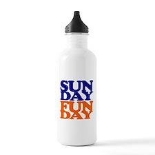 Sunday Funday Orange And Blue Water Bottle