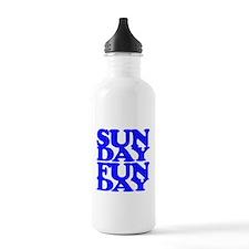 Sunday Funday Blue Water Bottle
