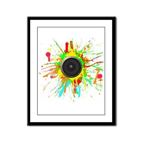 See The Music! Framed Panel Print
