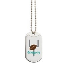 Personalized Football Goal Dog Tags