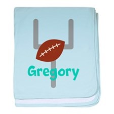 Personalized Football Goal baby blanket