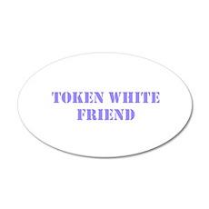 Token White Friend purple Wall Decal