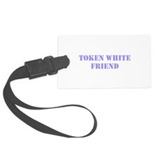 Token White Friend purple Luggage Tag