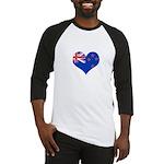 New Zealand Flag Heart Baseball Jersey