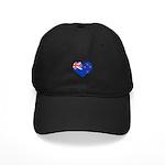 New Zealand Flag Heart Black Cap