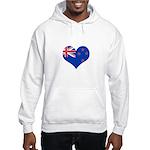 New Zealand Flag Heart Hooded Sweatshirt
