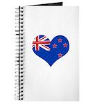 New Zealand Flag Heart Journal