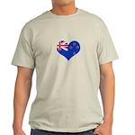 New Zealand Flag Heart Light T-Shirt