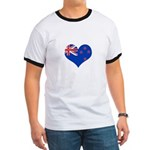 New Zealand Flag Heart Ringer T