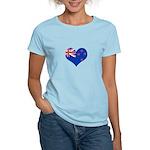 New Zealand Flag Heart Women's Light T-Shirt