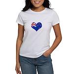 New Zealand Flag Heart Women's T-Shirt
