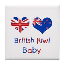British Kiwi Baby Tile Coaster