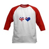 Brit Kiwi Flag Hearts Tee