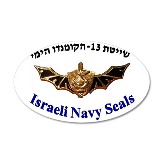 Israel Naval Commonado 20x12 Oval Wall Decal