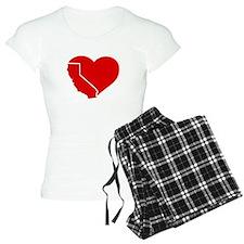 I Love California Heart Pajamas