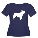 french bulldog Women's Plus Size Scoop Neck Dark T
