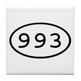 993 Oval Tile Coaster