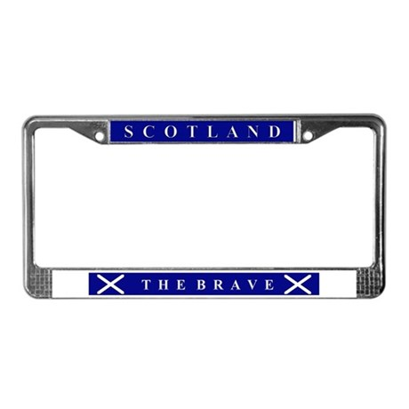 Scotland The Brave License Plate Frame