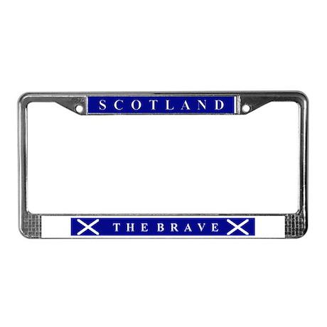 Scotland The Brave License Plate Frame