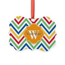 Modern Chevron Custom Monogram Ornament