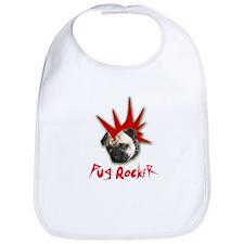 PUG ROCKER Bib