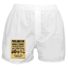 Wanted The James Gang Boxer Shorts