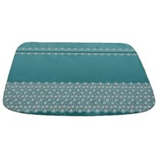 Floral Blue And Lace Stylish Design Bathmat