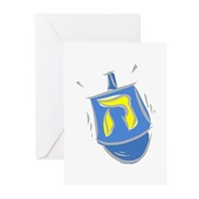 blue dreidel.png Greeting Cards
