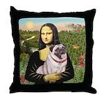 Mona's Fawn Pug (#2) Throw Pillow