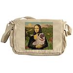 Mona's Fawn Pug (#2) Messenger Bag