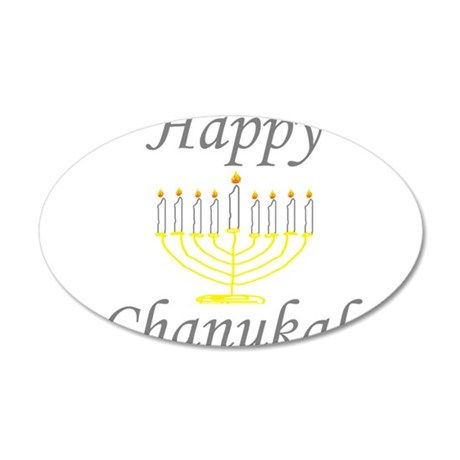 happy Chanukah with Menorah.png Wall Decal