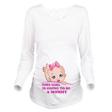 Cute Baby girl Long Sleeve Maternity T-Shirt