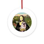 Mona's Fawn Pug (#2) Ornament (round)