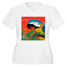 Parrot head Plus Size T-Shirt
