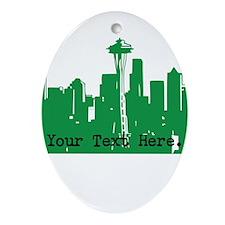 Seattle Skyline Ornament (Oval)