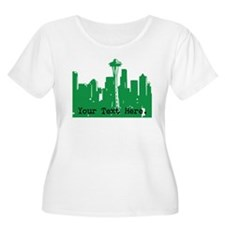 Seattle Skyline Plus Size T-Shirt