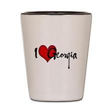 I LOVE GEORGIA Shot Glass