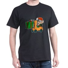 elf with package on forklift.png T-Shirt