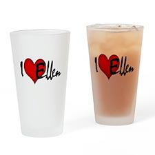 I LOVE ELLEN Drinking Glass