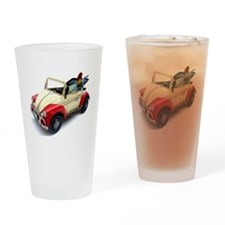 a old tin  car toy Drinking Glass