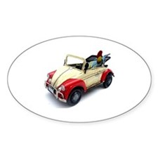 a old tin  car toy Decal