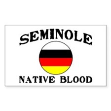 Seminole Native Blood Rectangle Decal