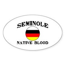 Seminole Native Blood Oval Decal