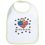 1st 4th of July Bib