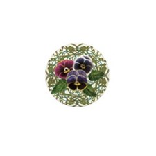 Cute Pansy flower Mini Button