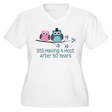 50 Years Hoot Anniversary Plus Size T-Shirt