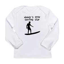 Daddys Little Surfing Star Long Sleeve T-Shirt