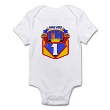 Superhero 1st Birthday Infant Body Suit