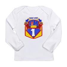Superhero 1st Birthday Long Sleeve Infant T-Shirt