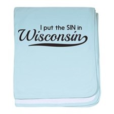 I put the SIN in Wisconsin baby blanket